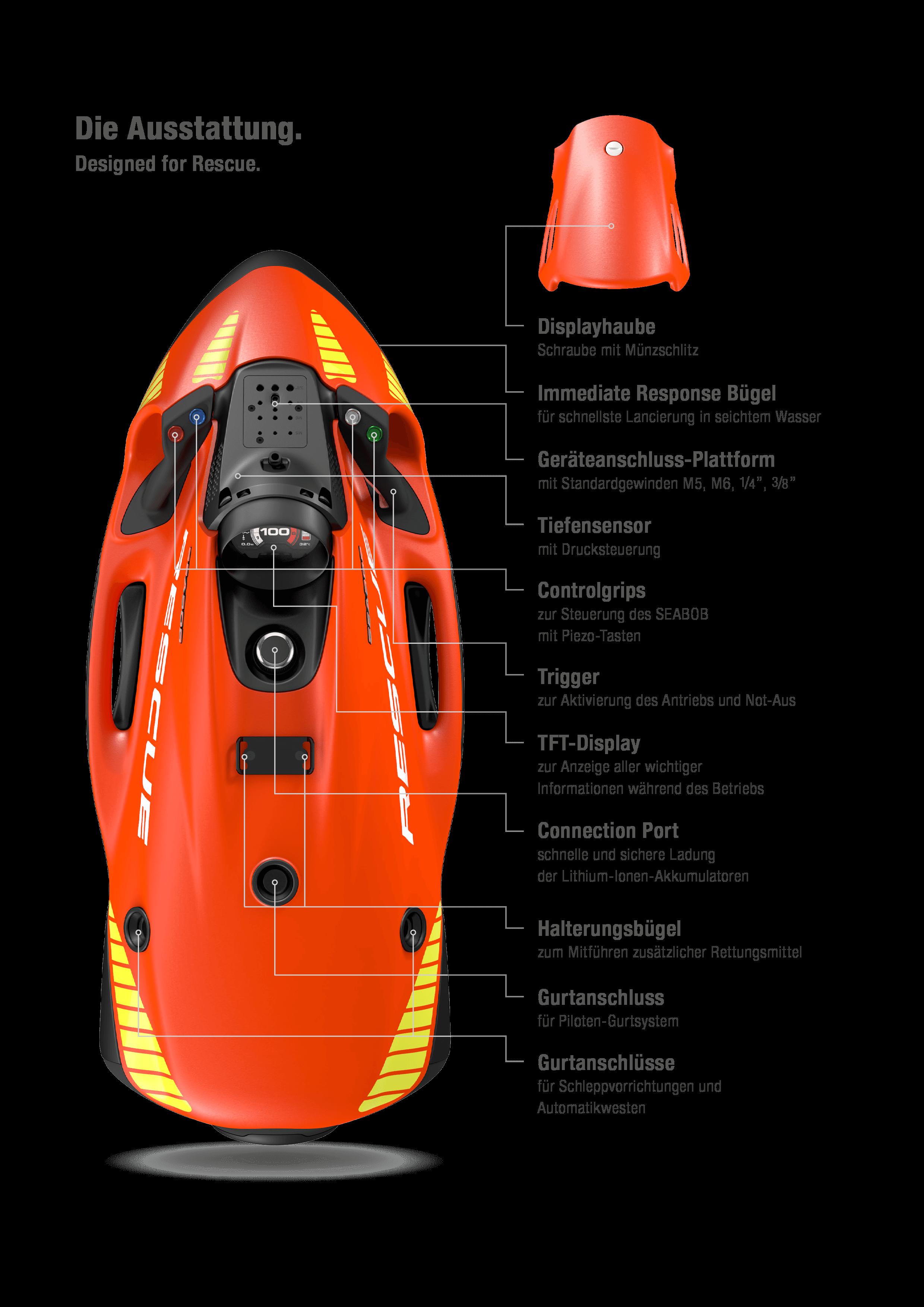 SEABOB Rescue Ausstattung